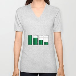 Battery Charge Indicator Unisex V-Neck