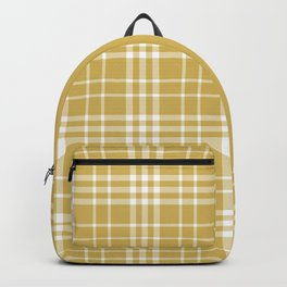Yellow Ocre Plaid Backpack