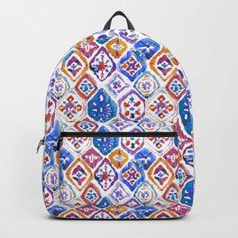 mosaic balinese ikat print mini Backpack