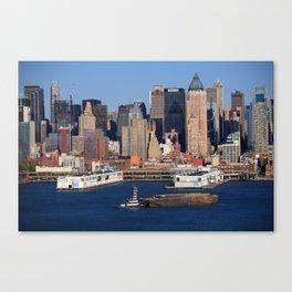 New York City Docks on the Hudson 2012 Canvas Print