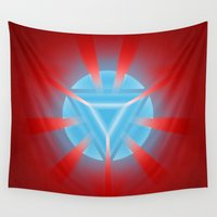ironman Wall Tapestries featuring Ironman by Some_Designs
