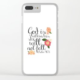 She Will Not Fall Clear iPhone Case