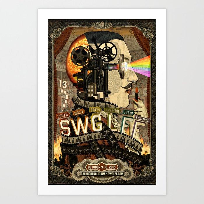 13th Annual Southwest Gay & Lesbian Film Festival Art Print