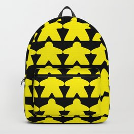 Yellow Meeples by Blackburn Ink Backpack