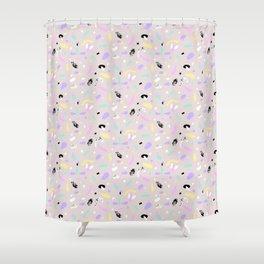 Happy Larva Shower Curtain