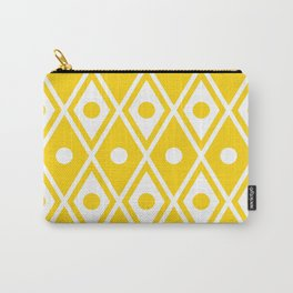 Harlequin Pattern Yellow Carry-All Pouch