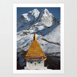 Himalaya - Stupa Art Print