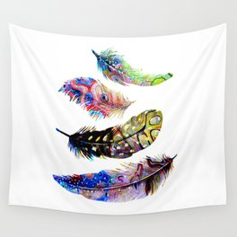 Psychedelic Feathers Wall Tapestry