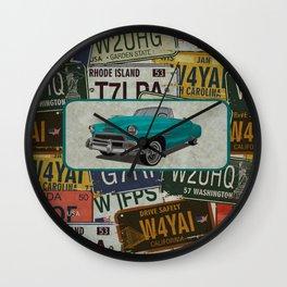 License Please Wall Clock