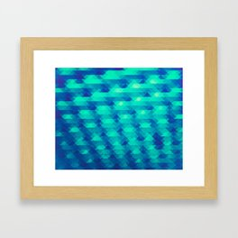 Modern Fashion Abstract Color Pattern in Blue / Green Framed Art Print