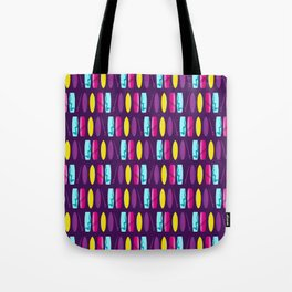 Surf's Up Multicoloured Surfboard Pattern Tote Bag