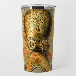 Vintage Golden Octopus Travel Mug