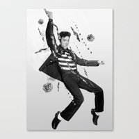 elvis presley Canvas Prints featuring Elvis Presley by Michael Ostermann