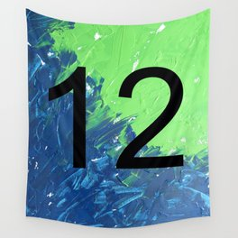 Blue & Green, 12, No. 2 Wall Tapestry