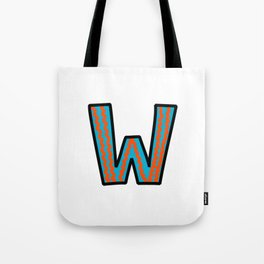 Uppercase Letter W Tote Bag