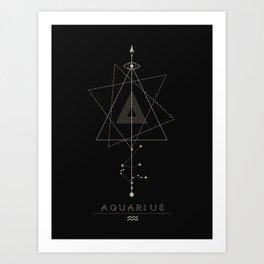 Aquarius Zodiac Constellation Kunstdrucke