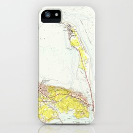 Vintage Map of Sandy Hook NJ (1954) iPhone Case