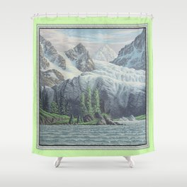 HIDDEN TOWER IN THE INLAND PASSAGE VINTAGE OIL PAINTING Shower Curtain