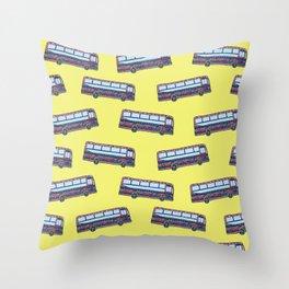 Bermuda Bus Throw Pillow