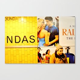 Caught in a advertisement.  Canvas Print