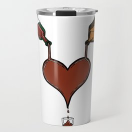 Love Cocktails and Hooch Hearts Travel Mug