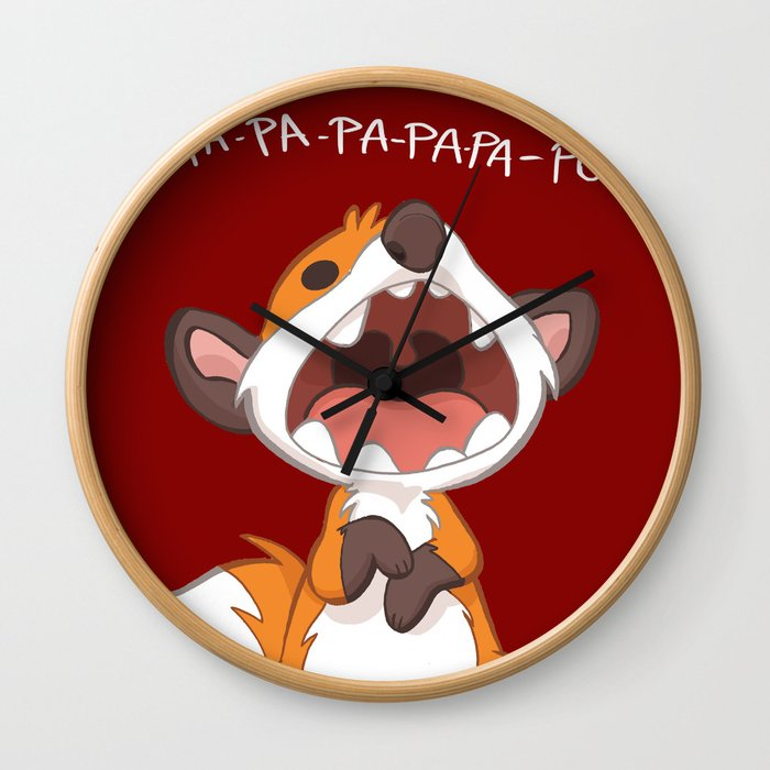 What the fox say? - pa-pa-pow! Wall Clock