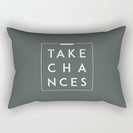 Take Chances Rectangular Pillow
