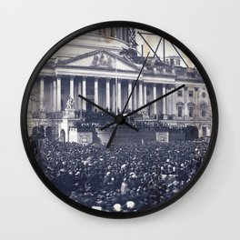 Inauguration of Pesident Abraham Lincoln (March 4, 1861) Wall Clock