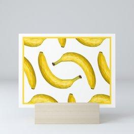 Yellow ripe banana Mini Art Print