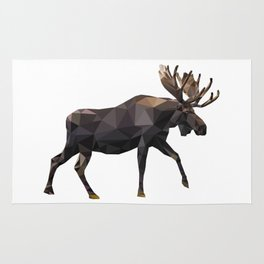 Polygon geometric Moose Rug