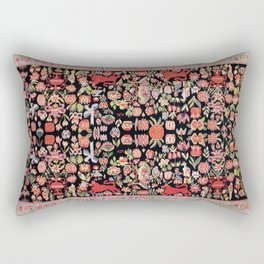 Täcke Antique Swedish Skåne Wedding Blanket Print Rectangular Pillow