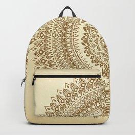 """Henna inspired"" Mandala Illustration Backpack"
