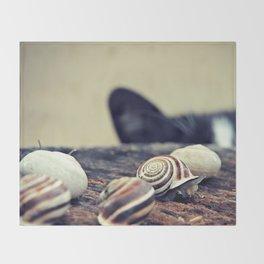 Cat Snails Throw Blanket