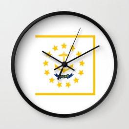 flag,rhode island,america,usa,Ocean State,Little Rhody,Rhode Islander,Providence,Warwick,Cranston Wall Clock
