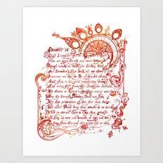 Sonnet 18 Illustration - William Shakespeare Art Print