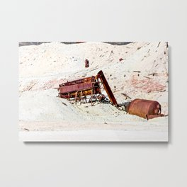 Remnents of an abandoned mine in Death Valley. California. USA Metal Print