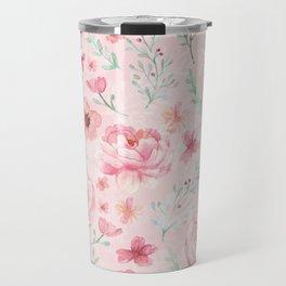 Pink Sweety Floral Travel Mug