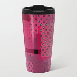 Pink Patchwork Travel Mug