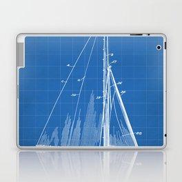 Sailboat Patent - Yacht Art - Blueprint Laptop & iPad Skin