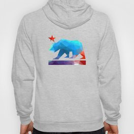 California State Bear (fractal colors) Hoody
