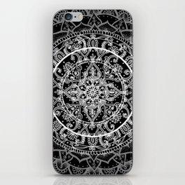 Detailed Black and White Mandala Pattern iPhone Skin