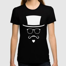 Hipster Mustache Fisherman T-shirt