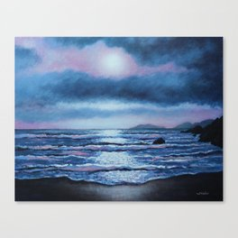 Breaking Waves, Coumeenole Beach, Dingle Peninsula Canvas Print