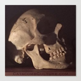 Catacomb Culture - Real Human Skull Oddity Canvas Print