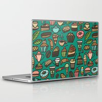macaroon Laptop & iPad Skins featuring Coffee and pastry  by Julia Badeeva