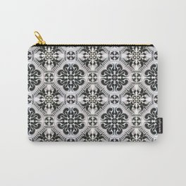 Portuguese Tiles Azulejos Black White Pattern Carry-All Pouch