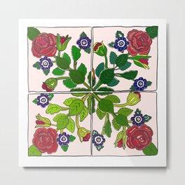 Portuguese Tiles Metal Print