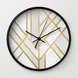 Art Deco Geometry 2 Wall Clock
