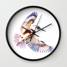 Colorful Kingfisher Wall Clock