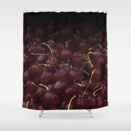 cherries pattern hvhdfn Shower Curtain